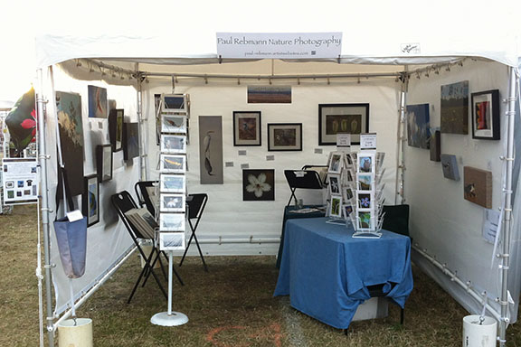 The Paul Rebmann Nature Photography sales tent