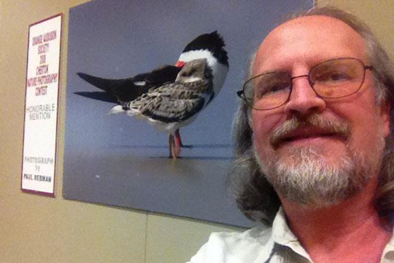 Paul Rebmann selfie with his award winning Homer & Bart