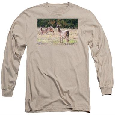 Deer at Paynes Prairie long sleeve T-shirt